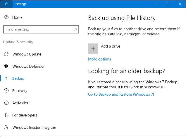 Резервное копирования и восстановления Windows 10, Windows 7, Windows 8