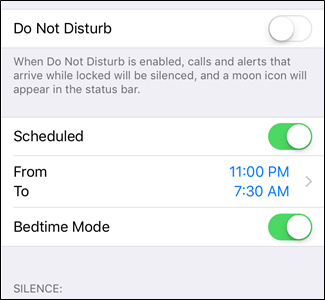 Screen Time и Do Not Disturb в ios12