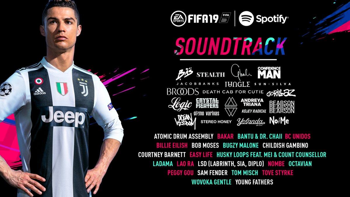 FIFA 19 саундтреки