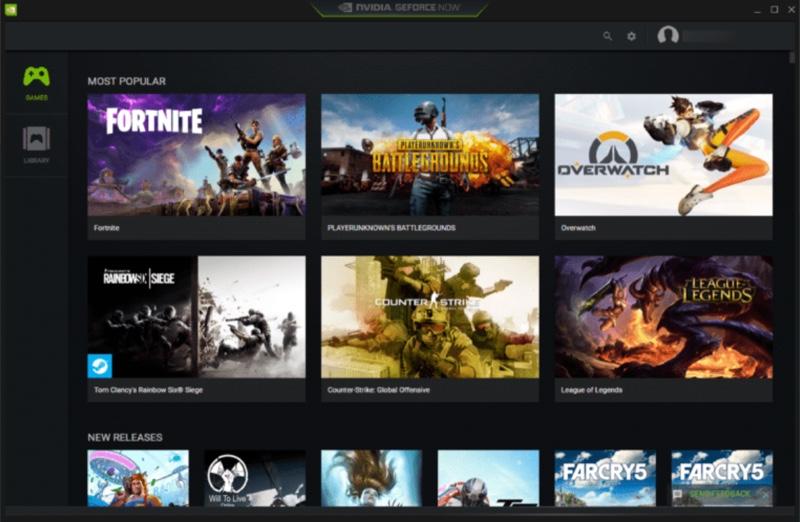 Загрузка игры в GeForce Now через Steam
